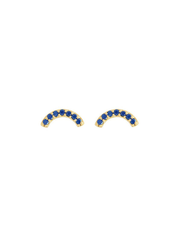 Single Row Rainbow Studs - Blue Sapphire-Andrea Fohrman-Tucci Boutique