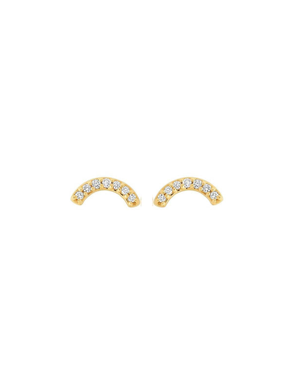 Single Row Rainbow Studs - White Diamond-Andrea Fohrman-Tucci Boutique
