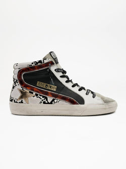 *Pre-Order* Slide Sneakers - Snake, Black & Brown-Golden Goose Deluxe Brand-Tucci Boutique