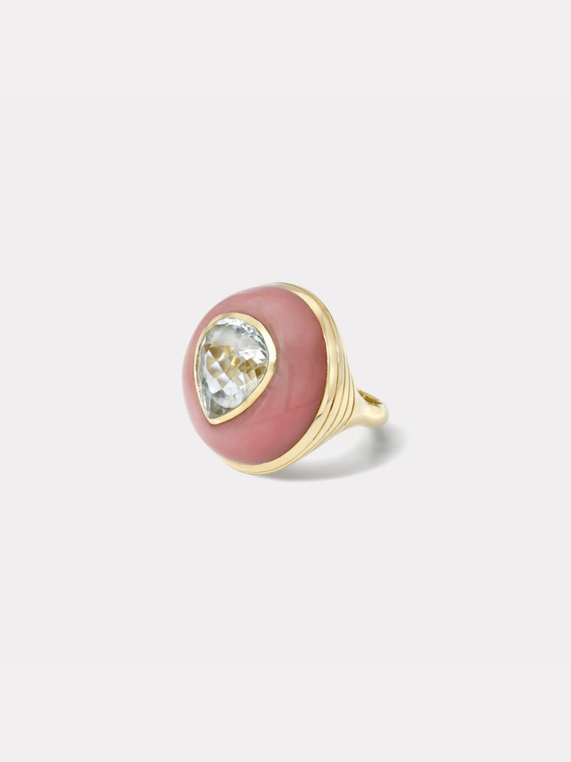 Lollipop Ring - Aquamarine & Pink Opal-Retrouvai-Tucci Boutique