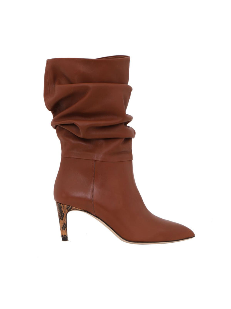 Slouchy Leather Calf Boots - Cuoio-Paris Texas-Tucci Boutique