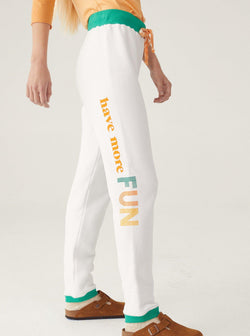 Aloha Sweatpant - White-Warm-Tucci Boutique