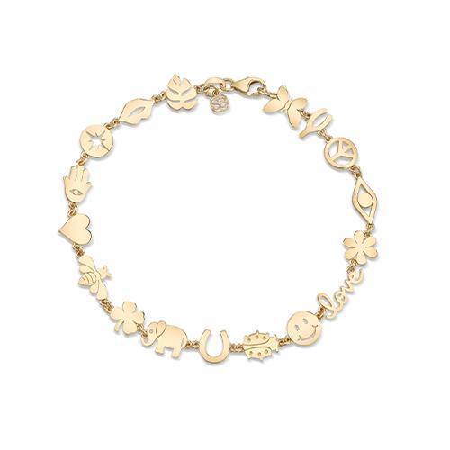 Small Multi-Icon Pure Bracelet-Sydney Evan-Tucci Boutique