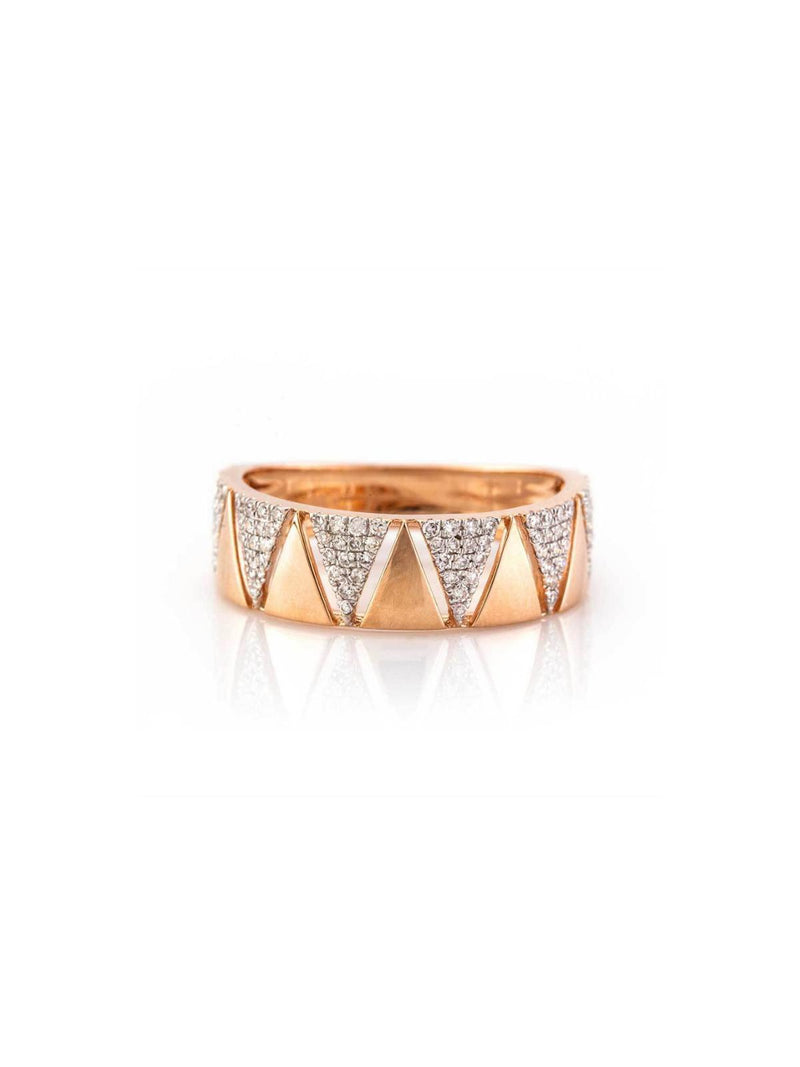 "Zofia Day ""Triangle Eternity Band"" Ring - Yellow Gold-Tucci Boutique"