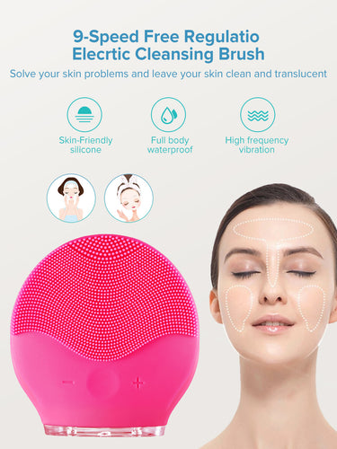 Naturally Radiant Facial Cleansing Brush with Ultrasonic Vibration
