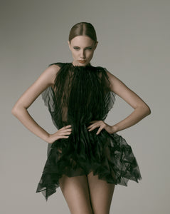 Unfolded Dress / Black