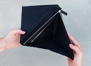 Unfolded Wallet - Triangle Black