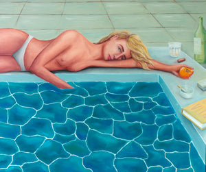 POOL GIRL - Original Painting