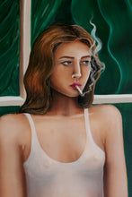 Smoking by the window * Original Painting