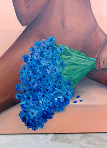 Hope is Blue - I love you / Original Painting