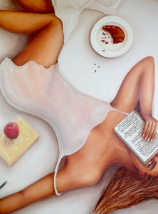 Girl in Bed * Original Painting