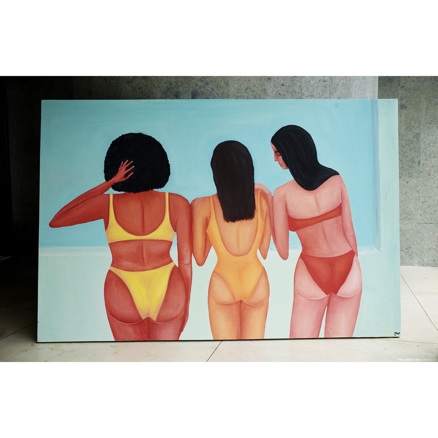 Girls from the back - Original Painting
