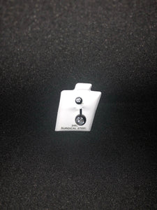 Black andoized belly bar