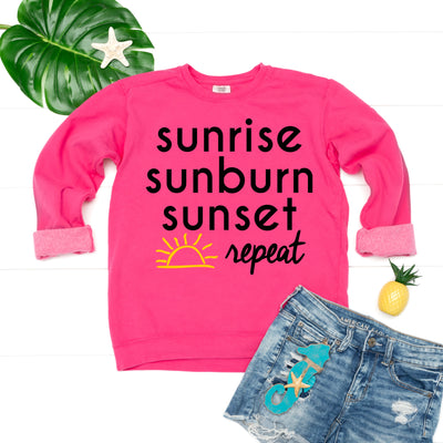 Sunrise Sunburn Sunset Sweatshirt
