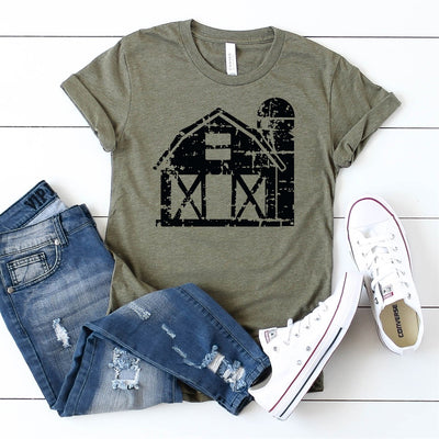Distressed Barn Tee - Limeberry Designs