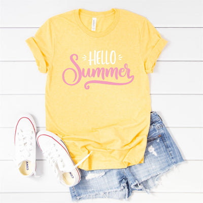 Hello Summer Tee - Limeberry Designs