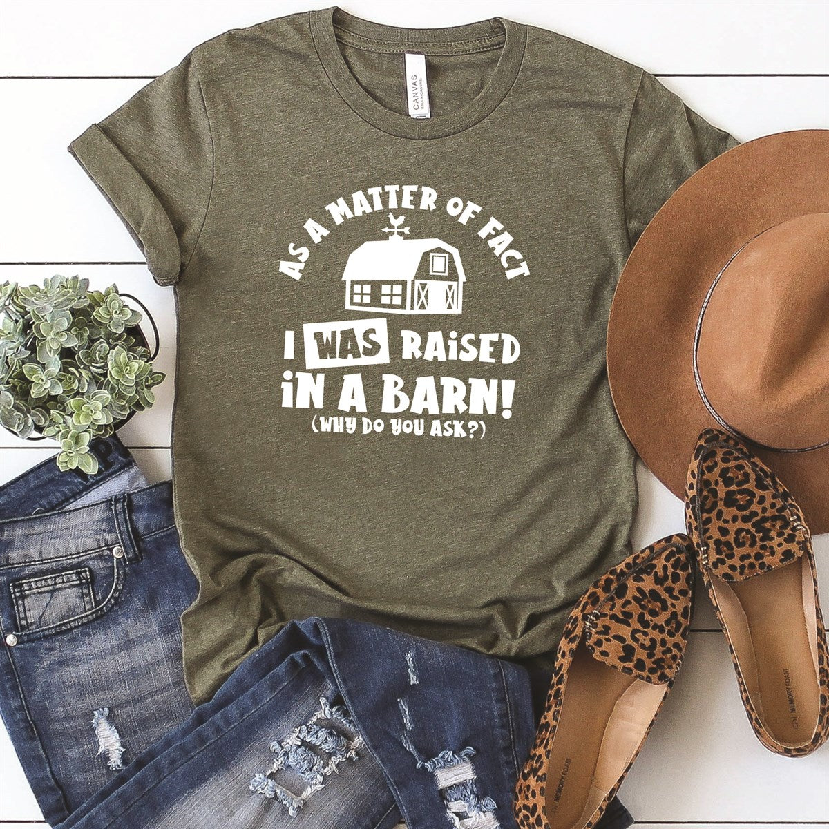 Raised In A Barn Tee - Limeberry Designs