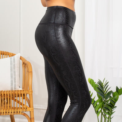 NAGINI SNAKE FOIL LEGGINGS - Limeberry Designs