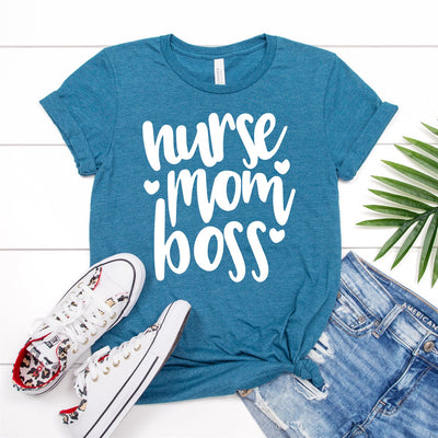 Nurse Mom Boss Tee - Limeberry Designs