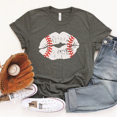 Baseball Lips Tee - Limeberry Designs