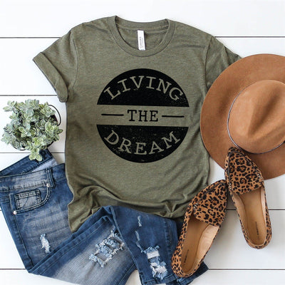 Living The Dream Tee - Limeberry Designs