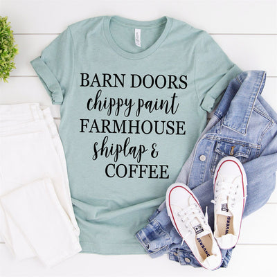 Barn Doors Chippy Paint Tee - Limeberry Designs