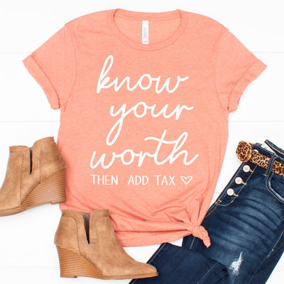 Know Your Worth Tee - Limeberry Designs