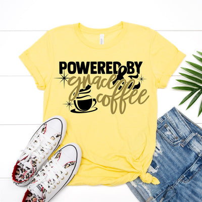 Powered By Grace & Coffee Tee - Limeberry Designs