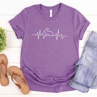 Bunny Heart Beat Tee - Limeberry Designs