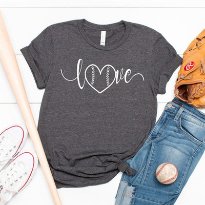 Love Heart Baseball Tee - Limeberry Designs