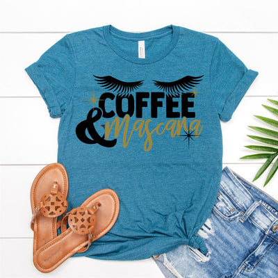 Coffee & Mascara Tee - Limeberry Designs