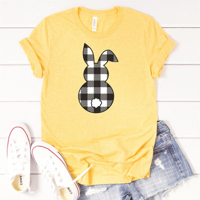 Plaid Bunny Tee - Limeberry Designs