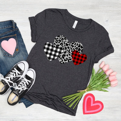 3 Hearts Separtated Tee
