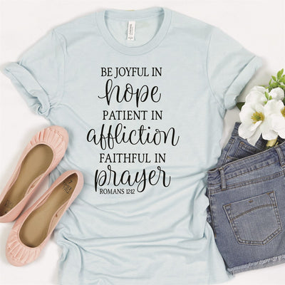 Be Joyful In Hope Tee - Limeberry Designs