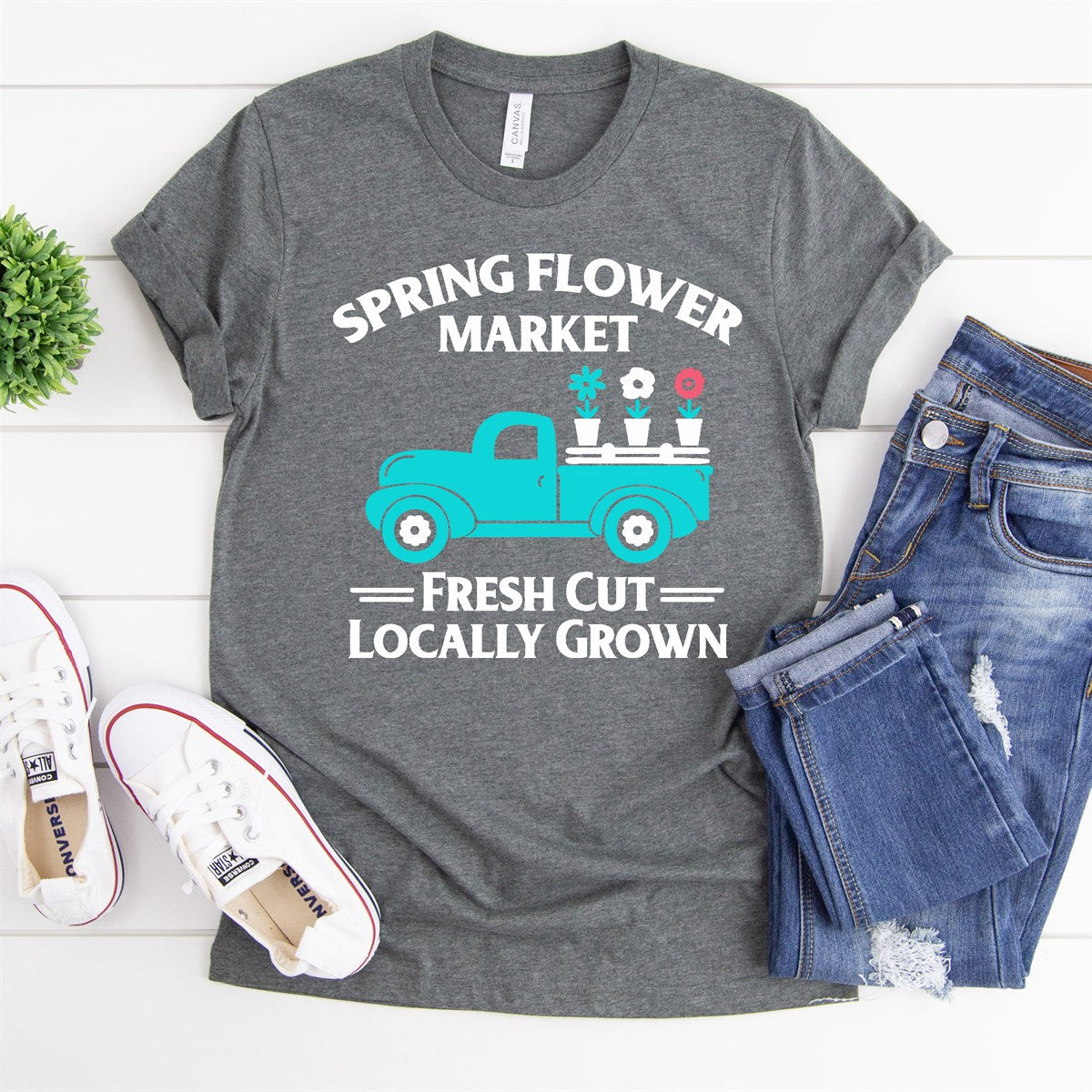 Spring Flower Truck Tee - Limeberry Designs