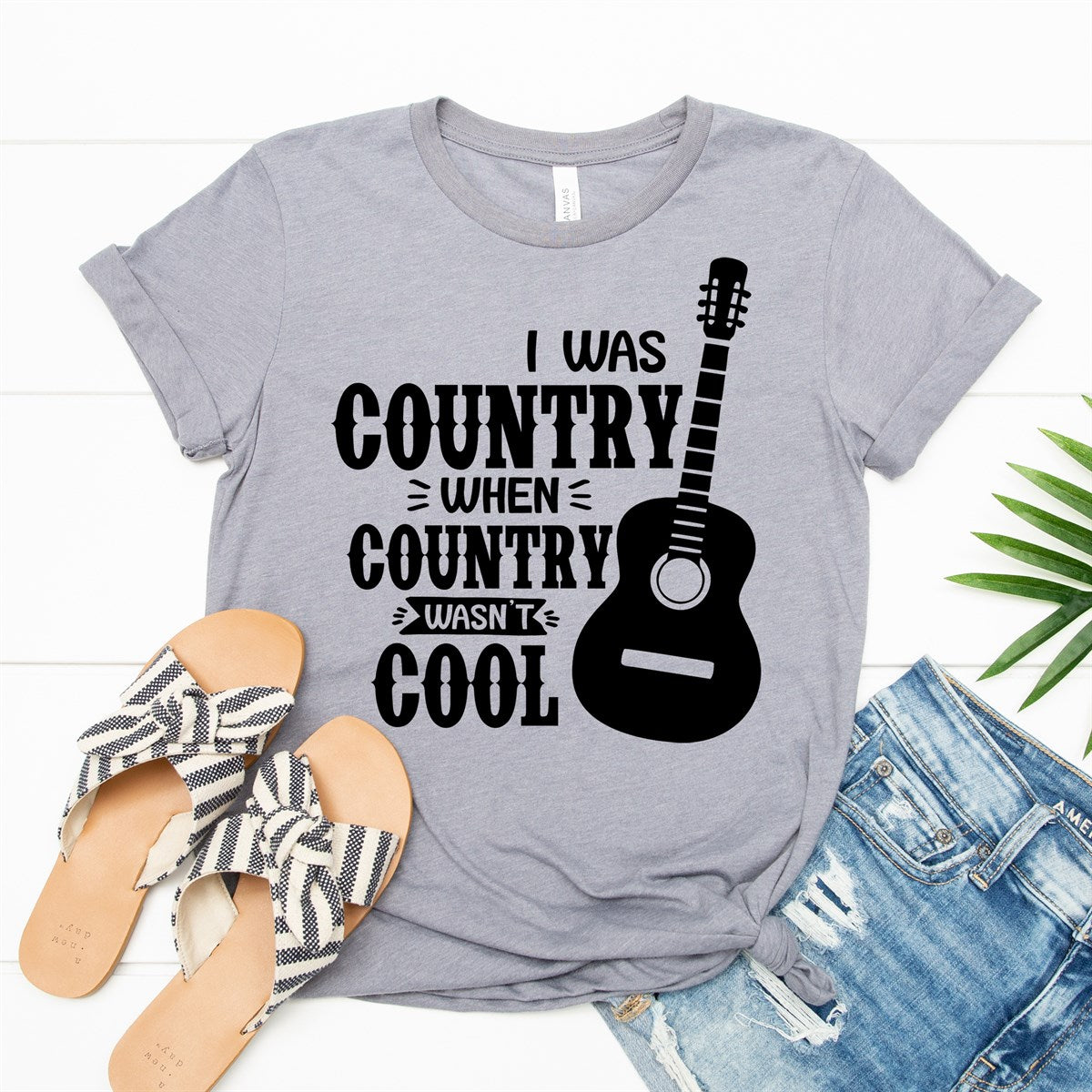 Country When Country Wasn't Cool Tee - Limeberry Designs
