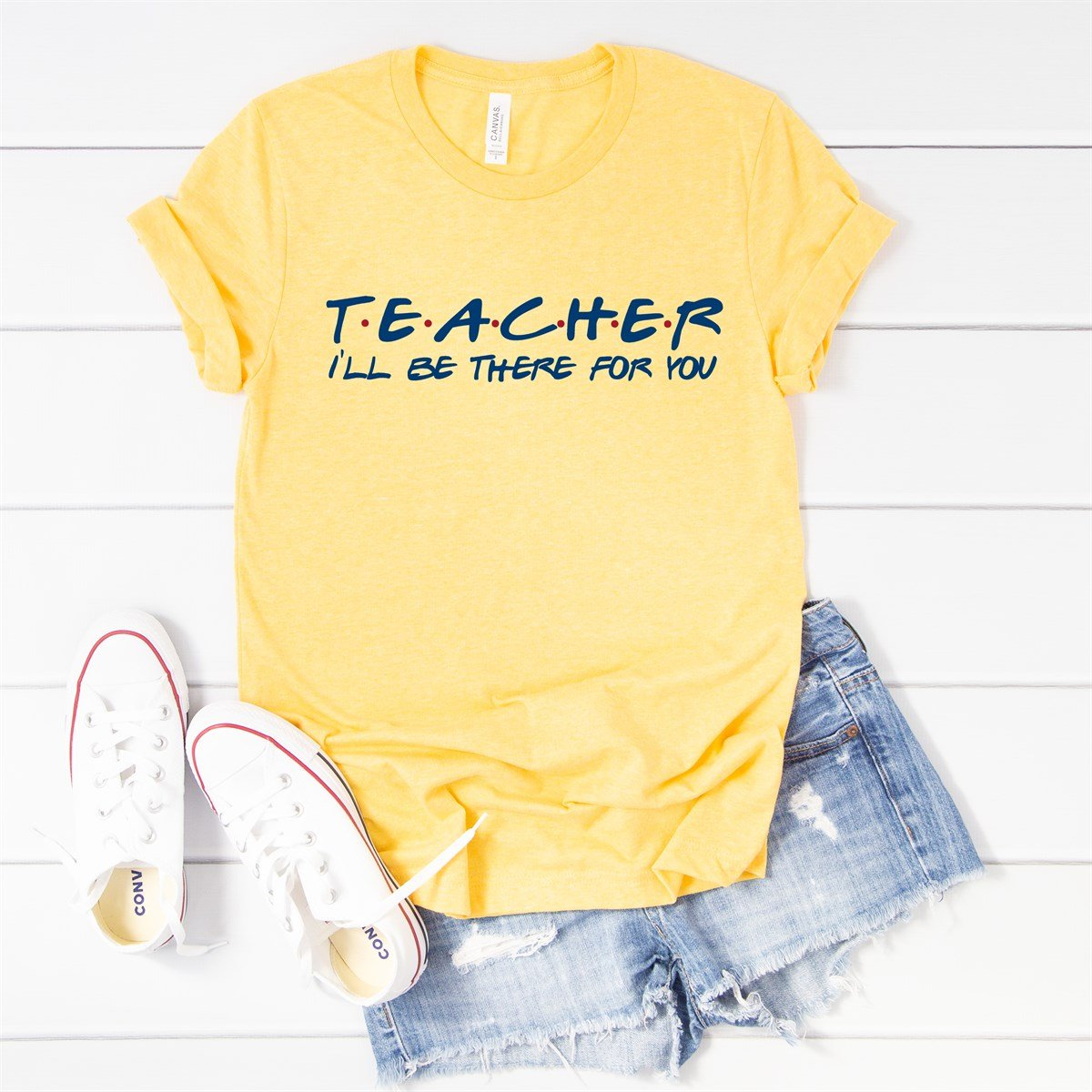 Teacher I'll Be There Tee - Limeberry Designs