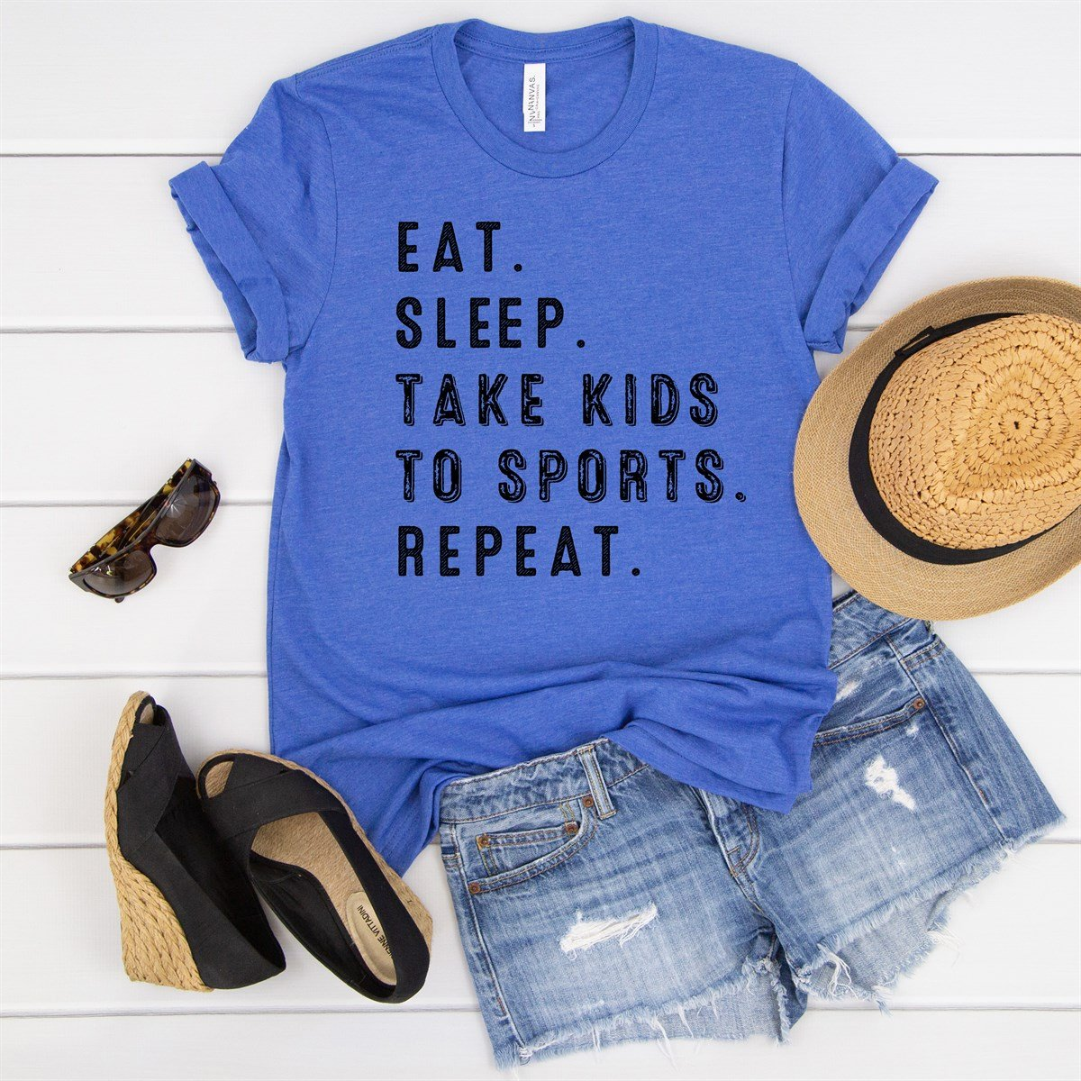 Eat Sleep Take Kids To Practice Tee - Limeberry Designs
