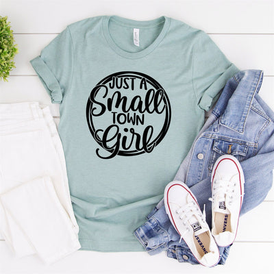 Just A Small Town Girl Tee - Limeberry Designs