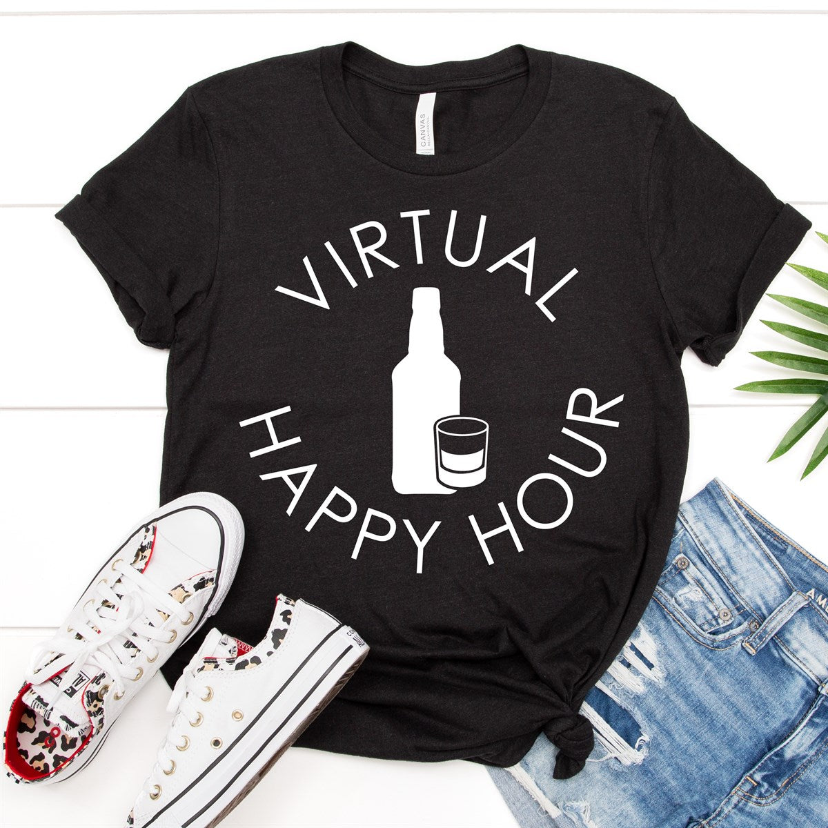 Virtual Happy Hour Liquor Tee - Limeberry Designs
