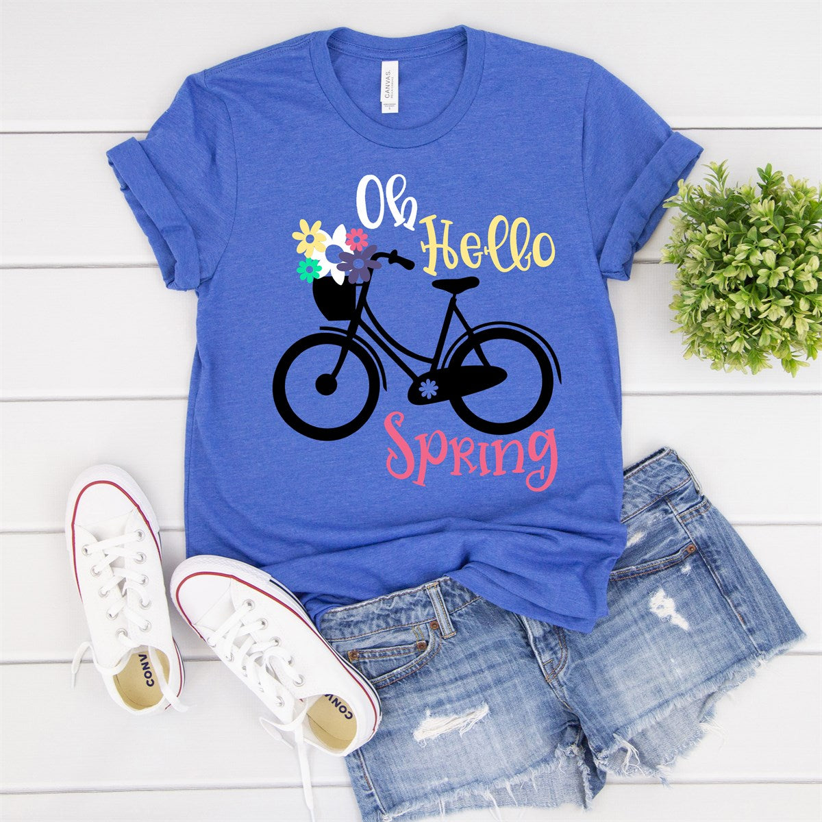 Hello Spring Bike Tee - Limeberry Designs