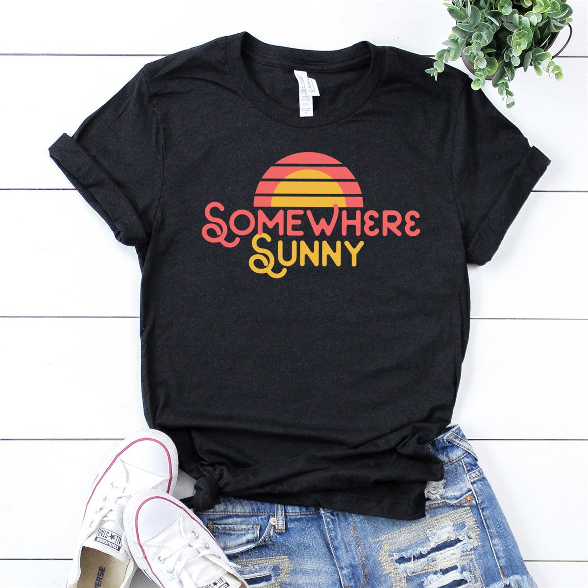 Somewhere Sunny Tee - Limeberry Designs