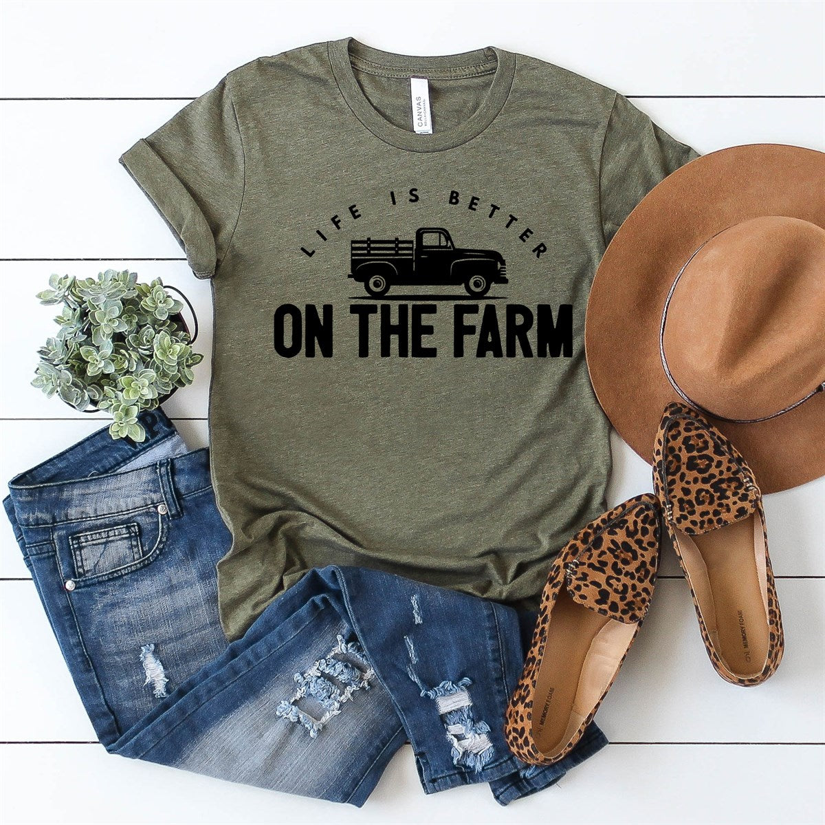 Life Is Better On The Farm Tee - Limeberry Designs