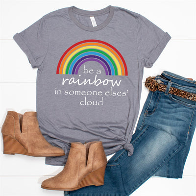 Be A Rainbow Tee - Limeberry Designs
