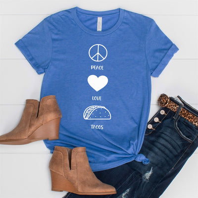 Peace Love Tacos Tee - Limeberry Designs