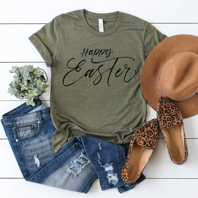 Happy Easter Script Tee - Limeberry Designs