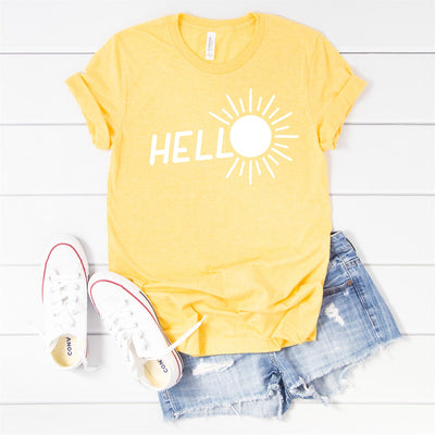 Hello Sun Tee - Limeberry Designs