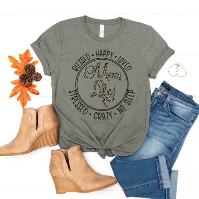 Blessed Happy Loved Mom Life Tee - Limeberry Designs
