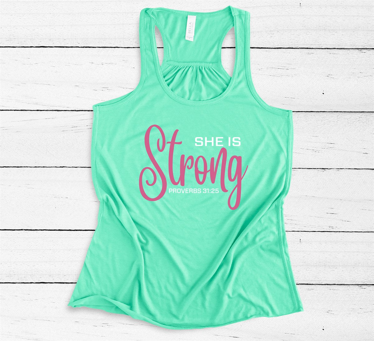 She Is Strong Tank - Limeberry Designs