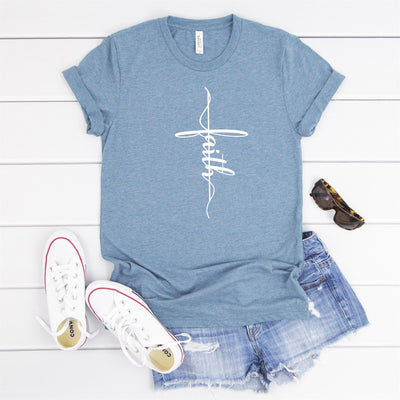 Faith Cross Tee - Limeberry Designs